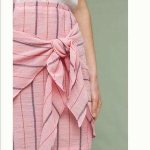Holding Horses • Striped Tie-Front Mini Skirt